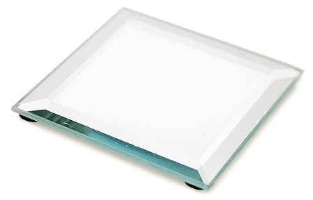 Beveled Square Display Mirror – Centerpiece Mirrors – Party Intended For Bevelled Mirrors Glass (#8 of 20)