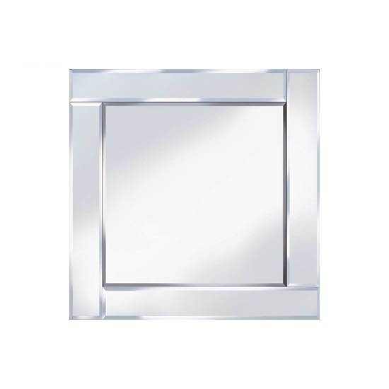 Bevelled 60x60 Square Wall Mirror 15128 Furniture In Within Square Bevelled Mirrors (View 13 of 15)