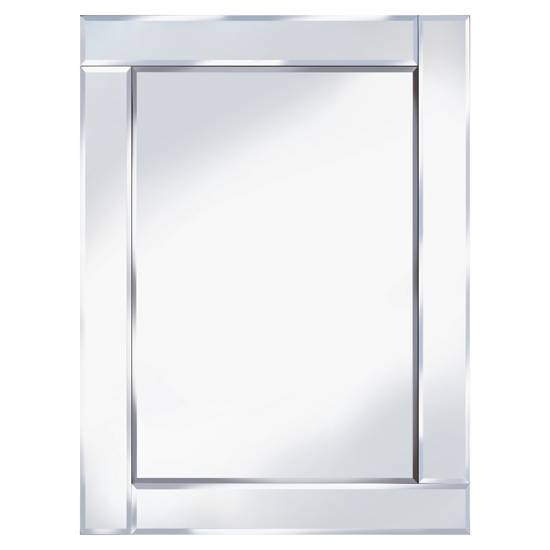 Bevelled 60X80 Rectangle Wall Mirror 15129 Furniture In With Regard To Bevelled Wall Mirrors (#4 of 20)