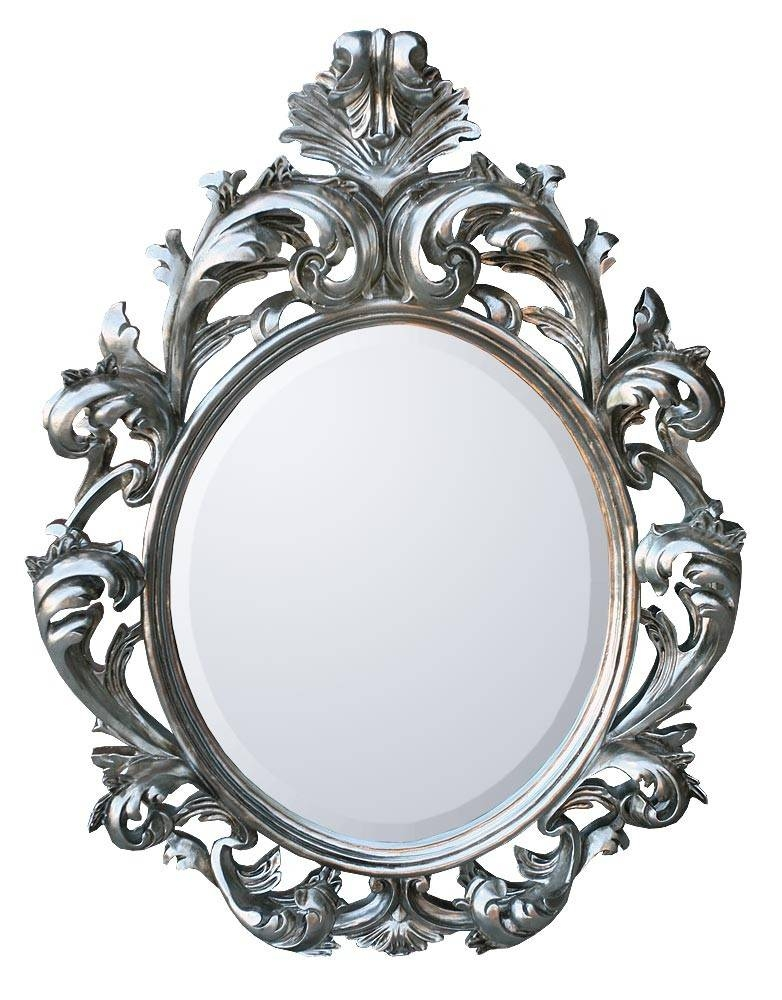 Bevelled Bathroom Mirrors, Large Oval Baroque Mirror Baroque Wall With Silver Baroque Mirrors (#8 of 30)