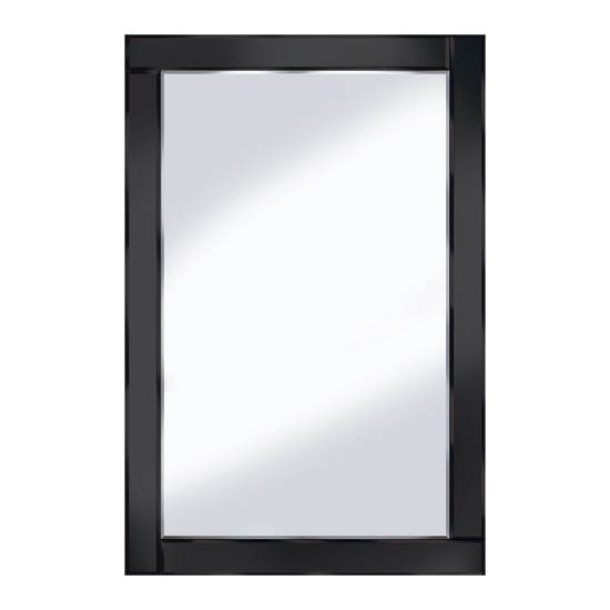 Bevelled Black 120X80 Large Wall Mirror 15136 Furniture In For Black Bevelled Mirrors (#8 of 20)