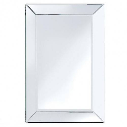 Bevelled Edge Mirror Medium Throughout Chamfered Edge Mirrors (#9 of 15)