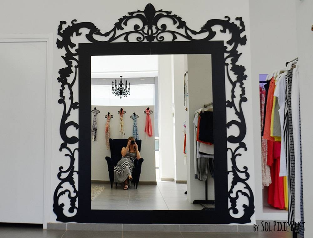 Big Modern Rococo Mirror Frame No Mirror Included Throughout Big Modern Mirrors (#16 of 20)