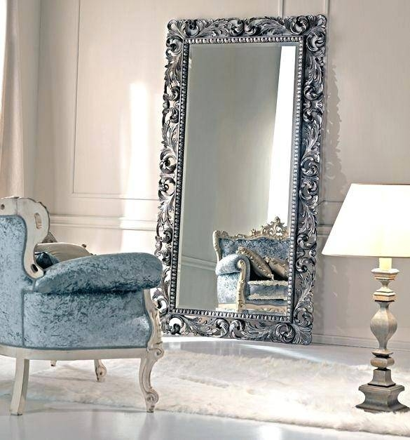 Big Size Framed Standing Dressing Mirrorbig White Freestanding Intended For Large Floor Standing Mirrors (#7 of 20)