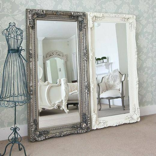 Big White Mirror – Shopwiz Intended For Large Ornate White Mirrors (View 12 of 20)