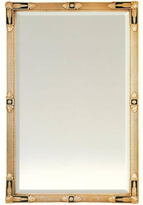 Black And Gold Federal Style Mirror From Richard Rothstein Regarding Black And Gold Wall Mirrors (#13 of 20)