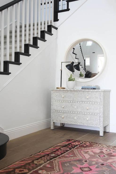 Black And Gold Round Convex Mirror Design Ideas For White Convex Mirrors (#7 of 30)