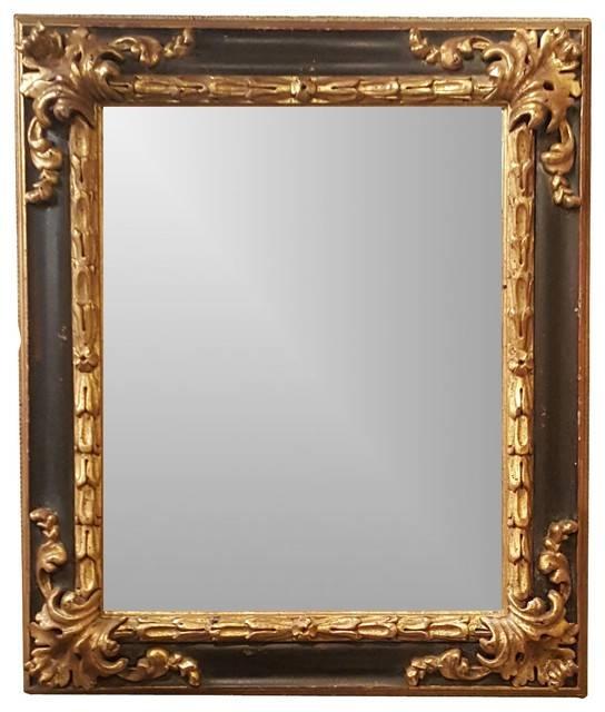 Black And Gold Spanish Style Ornate Framed Beveled Mirror Regarding Gold Ornate Mirrors (#9 of 20)