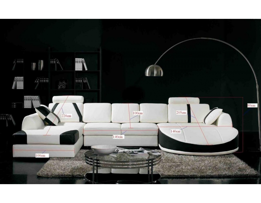 Popular Photo of White And Black Sofas