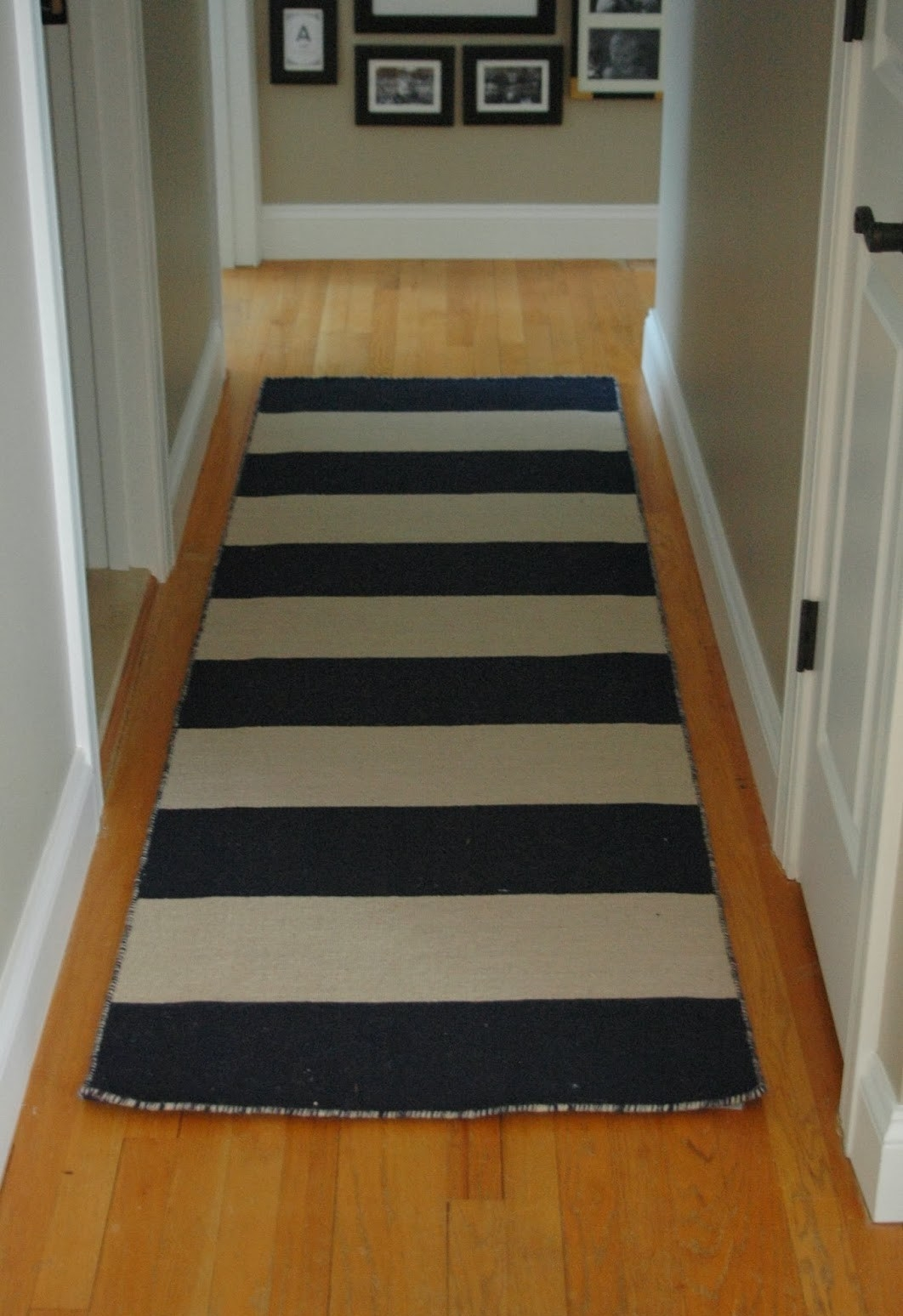 Black And White Striped Runner Rug Creative Rugs Decoration Inside Hallway Runners Black (#1 of 20)