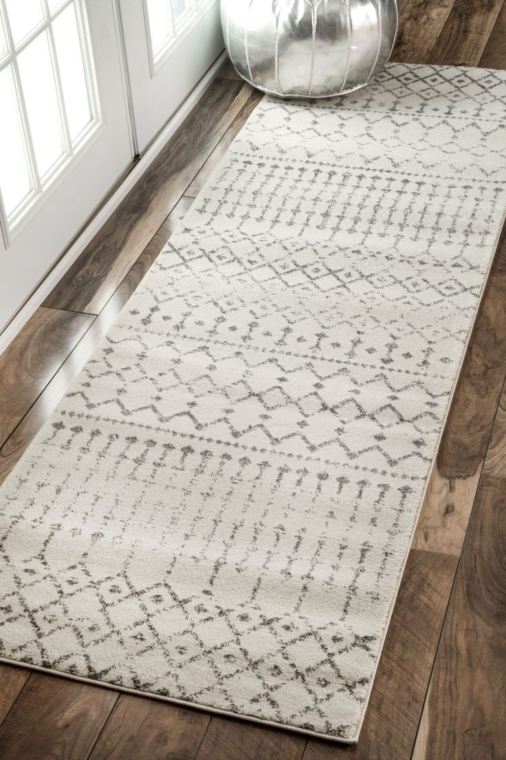 Black And White Striped Runner Rug Creative Rugs Decoration With Modern Hallway Runners (#8 of 20)