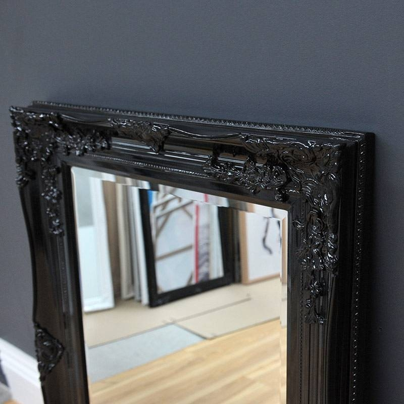 Black Antique Mirror – Home & Abode Intended For Large Black Vintage Mirrors (#20 of 30)