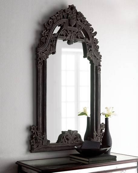 Black Baroque Mirror Throughout Baroque Black Mirrors (#12 of 20)