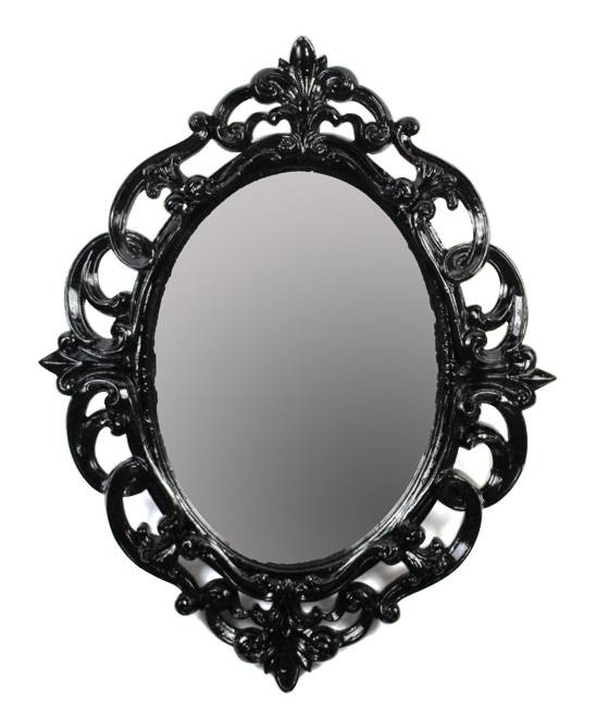 Black Baroque Oval Mirror | Zulily In Oval Black Mirrors (#6 of 20)