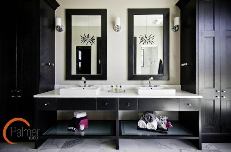 Black Bathroom Vanity Design Ideas Intended For Black Cabinet Mirrors (#19 of 30)