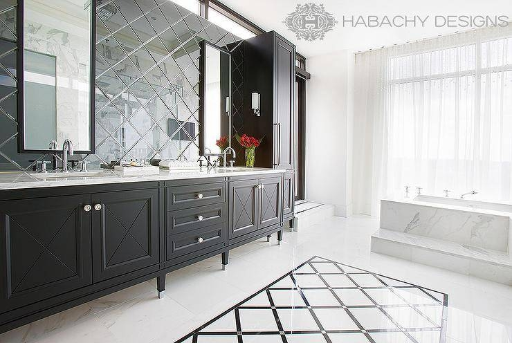Black Bathroom Vanity Design Ideas Throughout Black Cabinet Mirrors (#20 of 30)