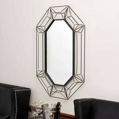 Black – Decorative – Metal – Mirrors – Wall Decor – The Home Depot Intended For Black Oval Wall Mirrors (View 15 of 20)