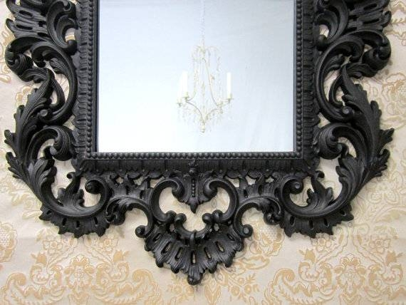 Black Decorative Mirrors (View 4 of 30)