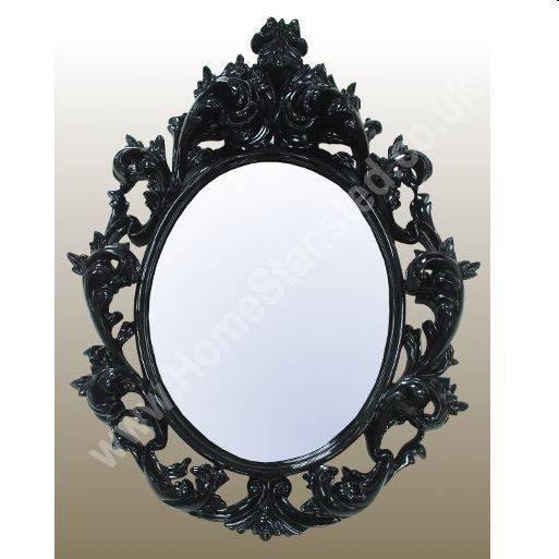 Black Decorative Wall Mirrors | Decorative Wall Mirrors Within Black Oval Wall Mirrors (#10 of 20)