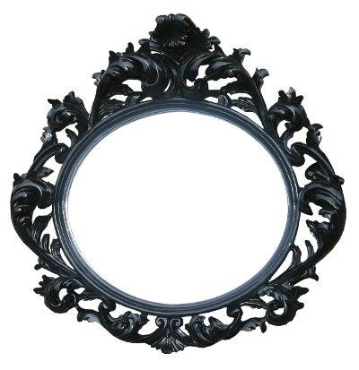 Black Decorative Wall Oval Mirror | French Mirror Company For Black Oval Wall Mirrors (View 7 of 20)