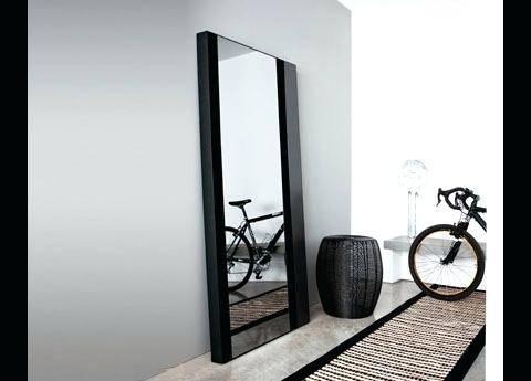 Black Frame Full Length Mirrormodern Free Standing Mirror Modern For Free Standing Black Mirrors (#8 of 30)