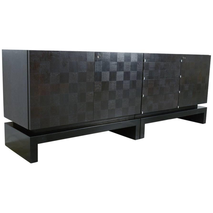 Black Geometric Sideboardthe Coene, Belgium For Sale At 1Stdibs Pertaining To Black Sideboard (View 20 of 20)