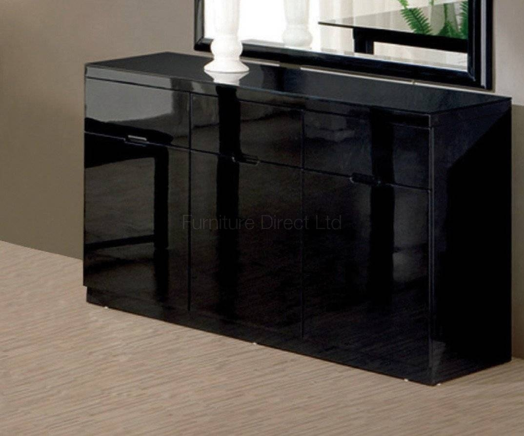 Black Gloss Furniture Pertaining To Black High Gloss Sideboards (#3 of 20)