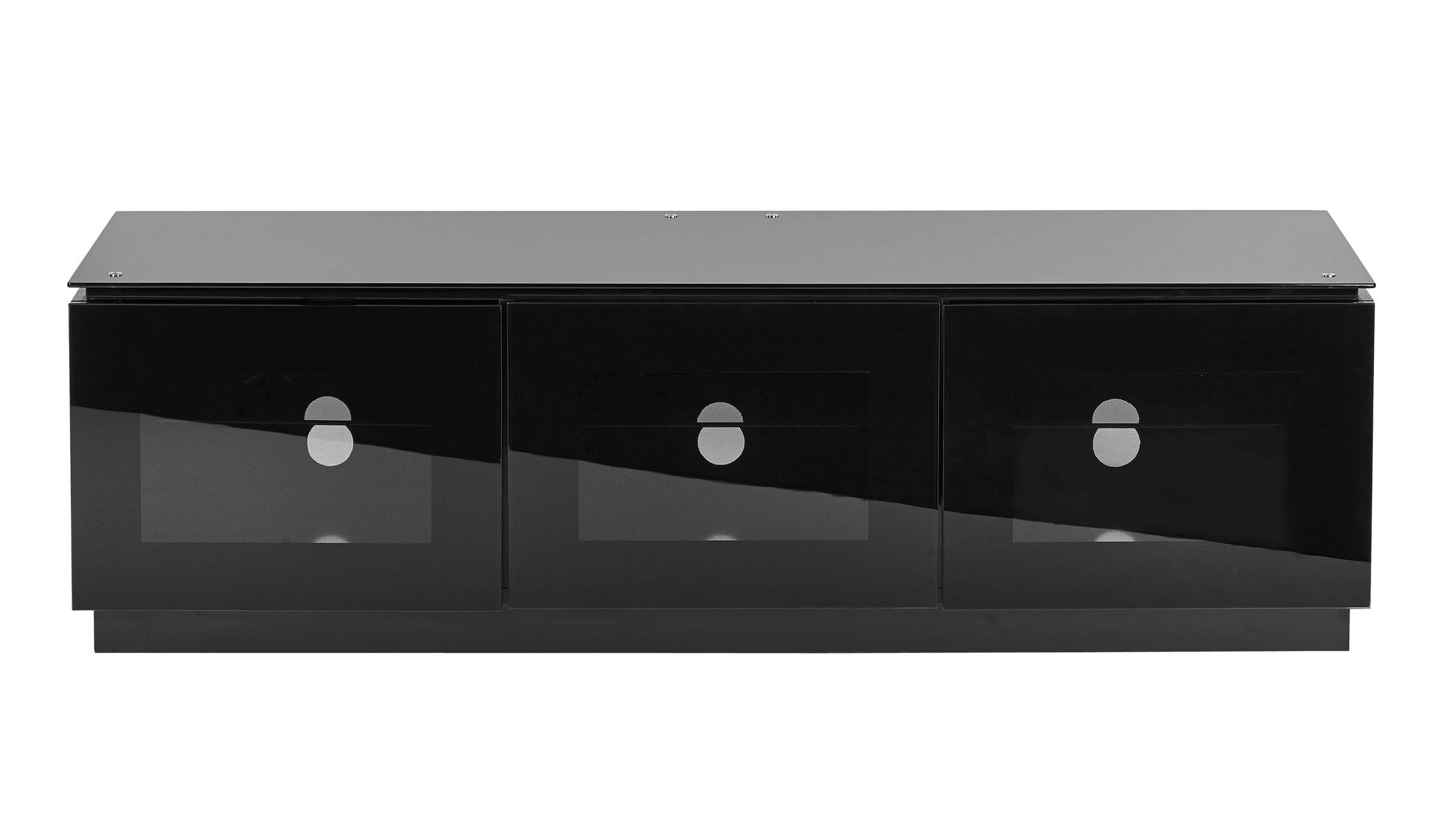 Black Gloss Tv Unit Up To 65 Inch Flat Tv | Mmt D1500 With Sideboard Black Gloss (#4 of 20)