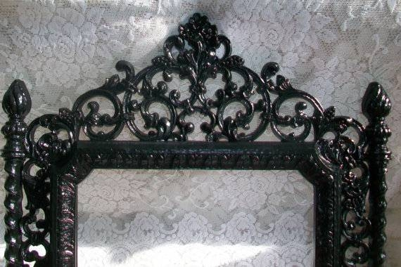 Black Gothic Mirror Images – Reverse Search Pertaining To Large Black Ornate Mirrors (View 17 of 30)