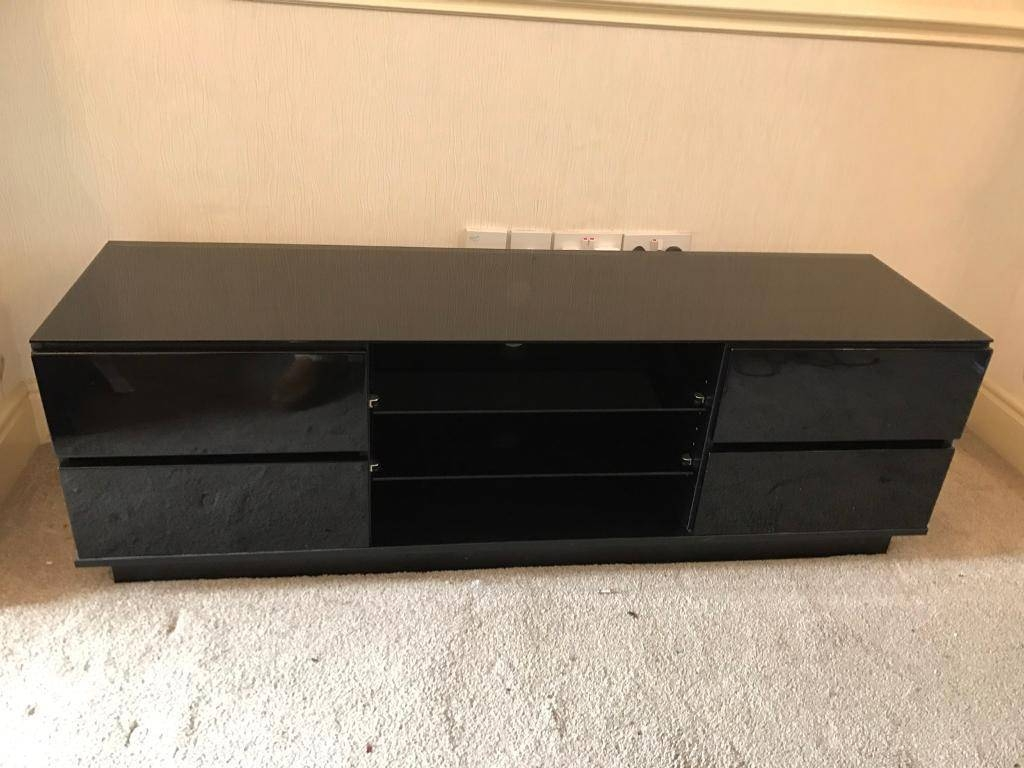 Black High Gloss Sideboard And Tv Unit | In Eccles, Manchester Intended For Black High Gloss Sideboard (#2 of 20)
