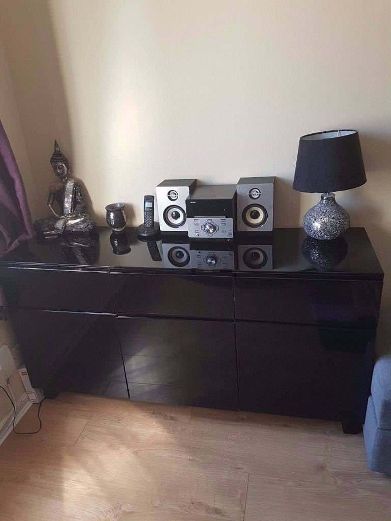 Black High Gloss Sideboard For Sale | In Letchworth Garden City With Black High Gloss Sideboard (#3 of 20)