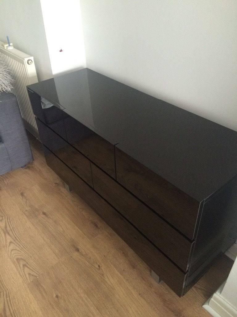 Black High Gloss Sideboard | In Merthyr Tydfil | Gumtree Throughout Black High Gloss Sideboard (#4 of 20)