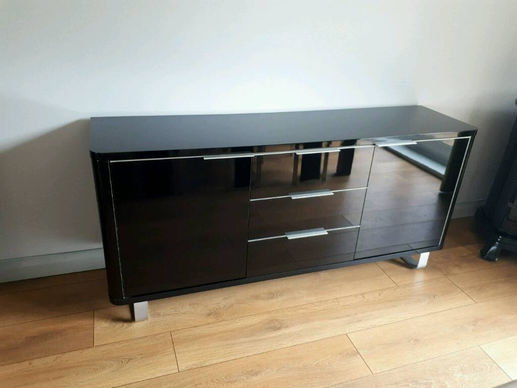 Black High Gloss Sideboard | In Stoke On Trent, Staffordshire Intended For Black High Gloss Sideboard (#6 of 20)