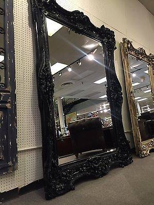 Black Lacquer Gothic Hollywood Regency Xl Tuscan Ornate Rococo In Black Ornate Mirrors (#12 of 30)