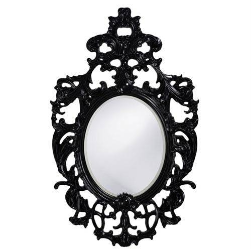 Black Lacquer Mirror | Bellacor In Oval Black Mirrors (#7 of 20)