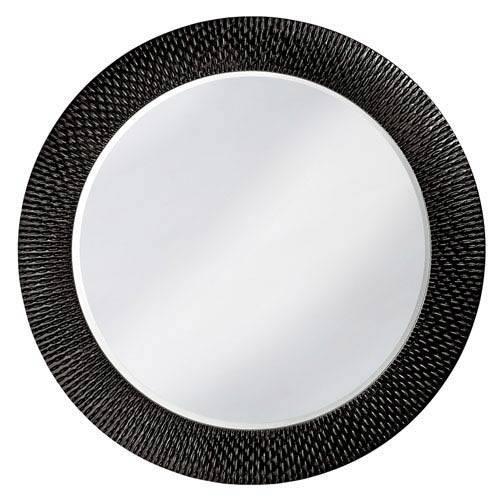 Black Lacquer Mirror | Bellacor Regarding Large Round Black Mirrors (View 2 of 30)
