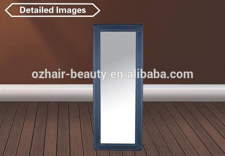 Black Leather Framed Mirror For Beauty Salon Used Mm01 – Buy In Black Leather Framed Mirrors (#9 of 30)