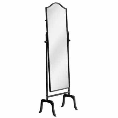 Black Mirrors Decorative Shabby Chic Carved Silver Round Window Regarding Free Standing Black Mirrors (#10 of 30)