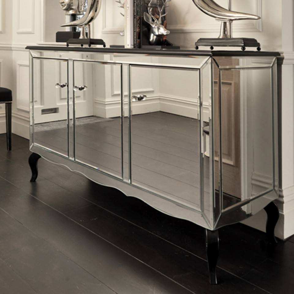 Black Orchid | Luxury Chelsea Mirrored Sideboard Furniture Storage For Mirrored Sideboard Furniture (View 5 of 20)