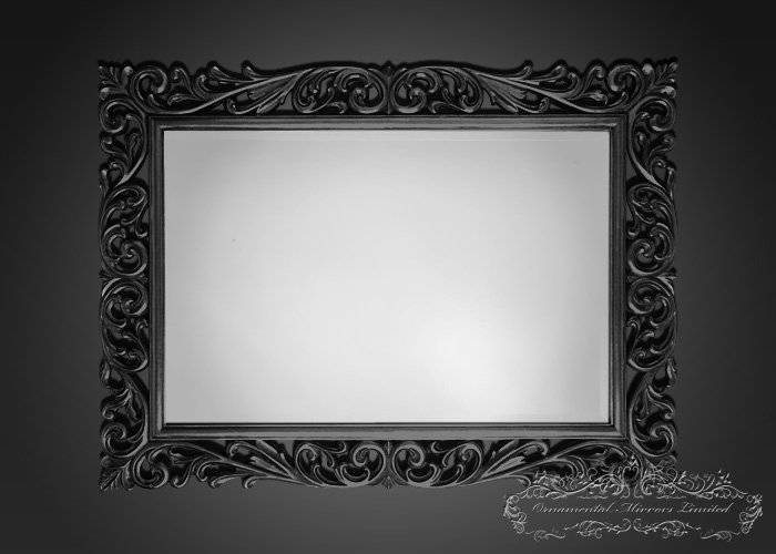 Black Ornamental Mirrors From Ornamental Mirrors Limited Throughout Black Mirrors (#15 of 30)