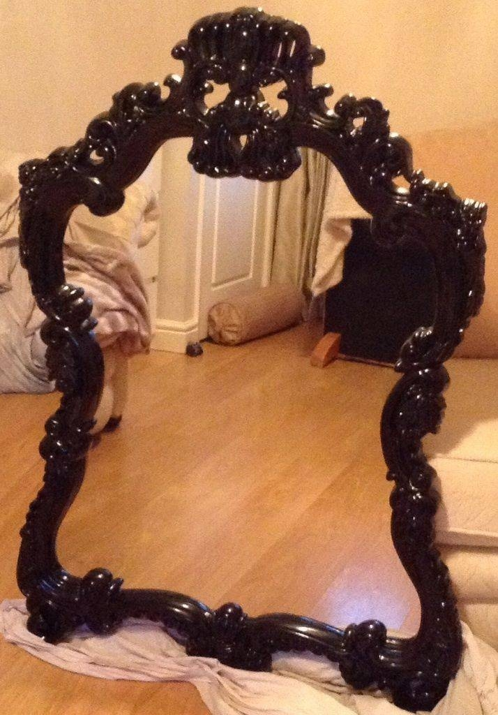 Black Ornate Mirror | In Milnrow, Manchester | Gumtree Inside Large Black Ornate Mirrors (View 19 of 30)