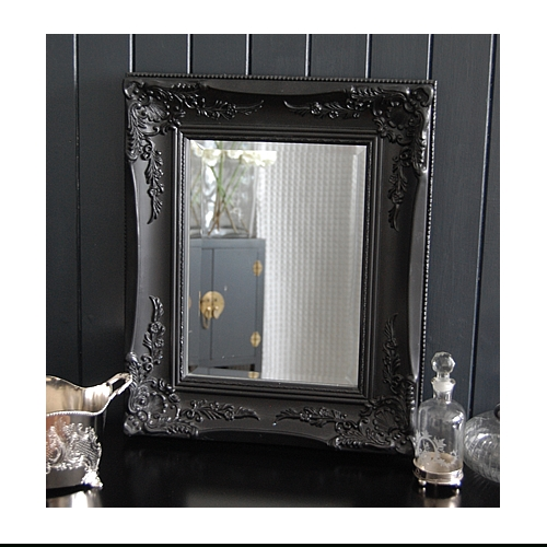 Black Ornate Mirror – Wall Or Dressing Table In Large Black Ornate Mirrors (View 18 of 30)