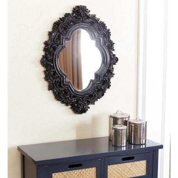 Black Oval Frame Wall Mirror Intended For Long Black Wall Mirrors (#16 of 30)
