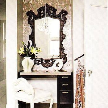 Black Rococo Mirror – Eclectic – Bathroom In Black Rococo Mirrors (#14 of 30)