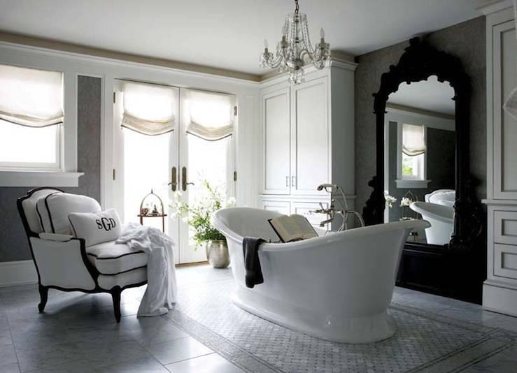 Black Rococo Mirror – Eclectic – Bathroom Regarding Black Rococo Mirrors (#15 of 30)