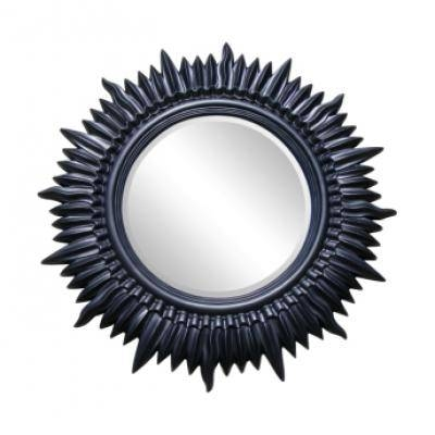 Black Round Mirrors – Ayers & Graces Online Antique Style Mirror Shop In Large Black Round Mirrors (#16 of 30)