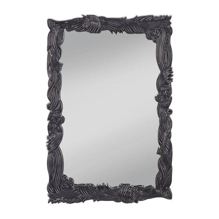 Black Victorian Style Emele Mirror In Black Victorian Style Mirrors (#20 of 30)