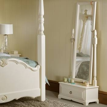 Blanket Boxes & Bedroom Mirrors In Quality Solid Wood Regarding Free Standing Mirrors With Drawer (View 8 of 20)