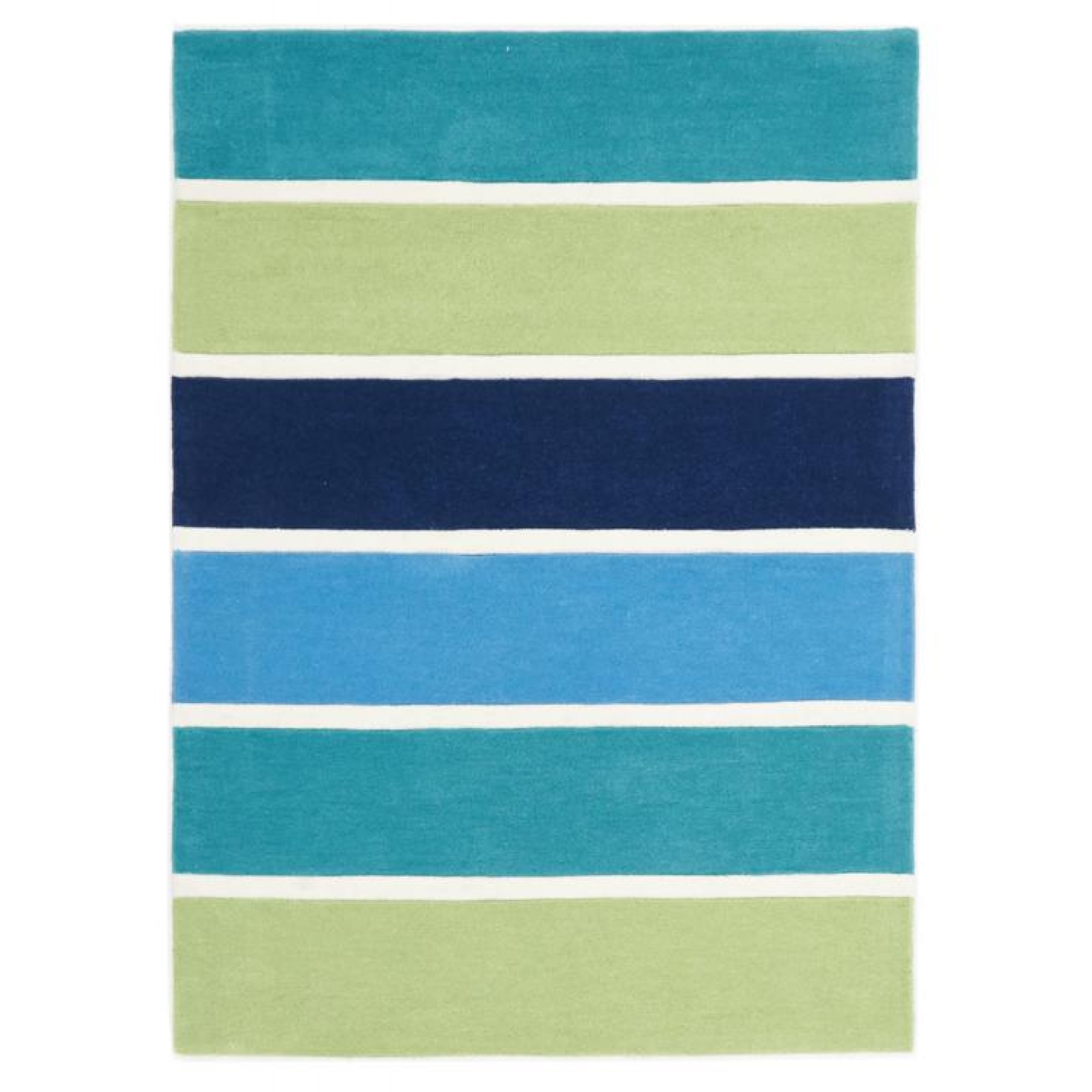 Blue And Green Banded Stripes Kids Floor Rugs Free Shipping Pertaining To Rug Runners Green (#4 of 20)
