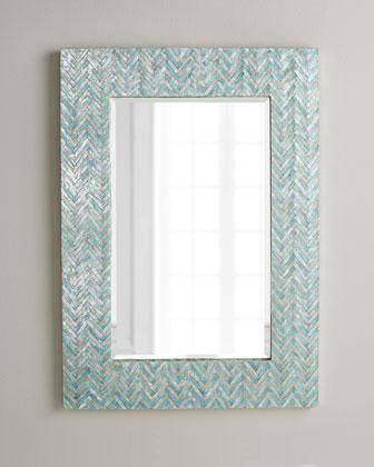 Blue Chevron Mirror Pertaining To Mirrors With Blue Frame (View 17 of 20)